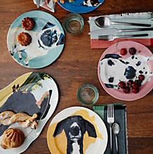 Dog-a-Day Dessert Plate from Anthropologie