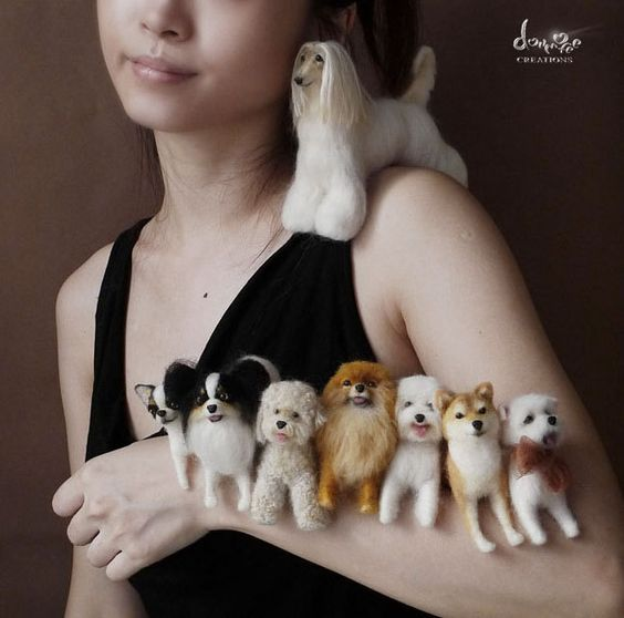 Felted Dogs from Goldmofee