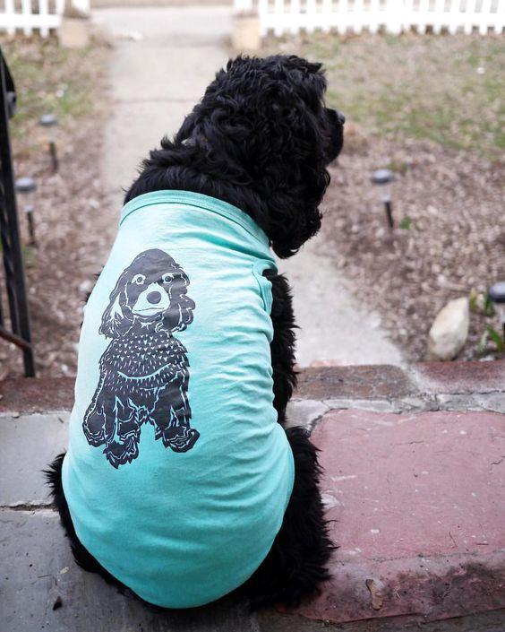 Dog Breed Cocker Spaniel Linocut Tank Top For Dogs By Barkley & Wagz