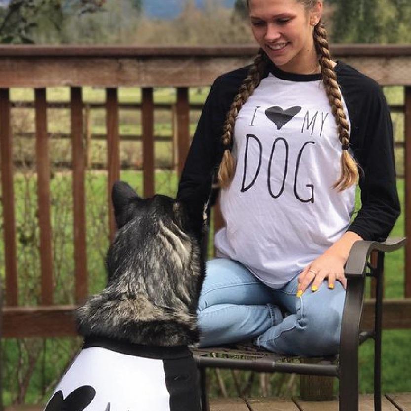 I Love My Dog I Love My Human T-Shirt Set By Barkley & Wagz