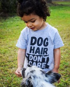 Dog Hair Is In Toddler T-Shirt By Barkley & Wagz