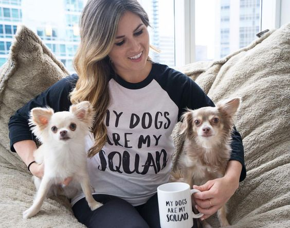 My Dogs are My Squad Barkley & Wagz Raglan and Mug