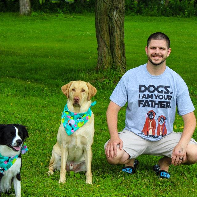 Custom Personalized Barkley & Wagz Unisex Father's Day T-Shirt