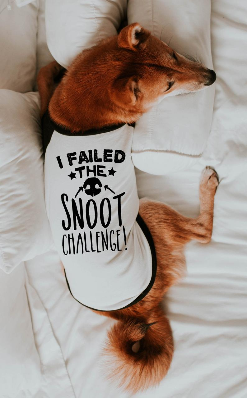 I Failed The Snoot Challenge T-Shirt For Dogs By Barkley & Wagz