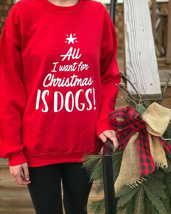 All I Want For Christmas is Dogs Sweatshirt By Barkley & Wagz