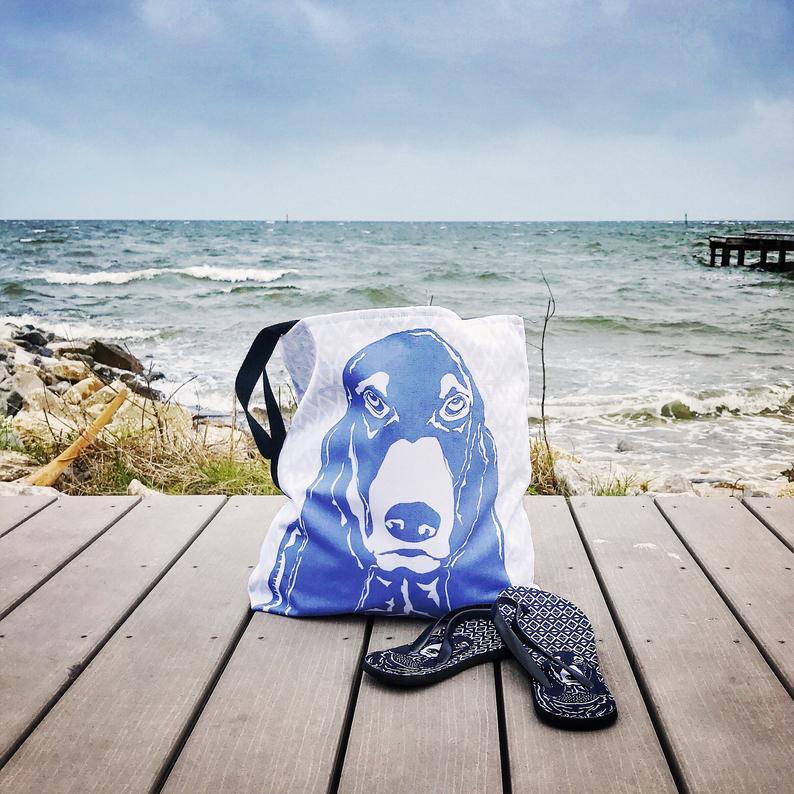 Basset Hound Tote Bag By Barkley & Wagz