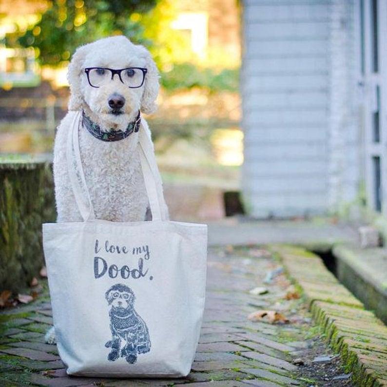 I Love My Dood Tote Bag By Barkley & Wagz