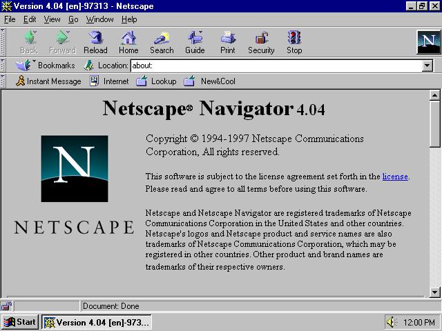 netscape navigator technology medtech healtchare