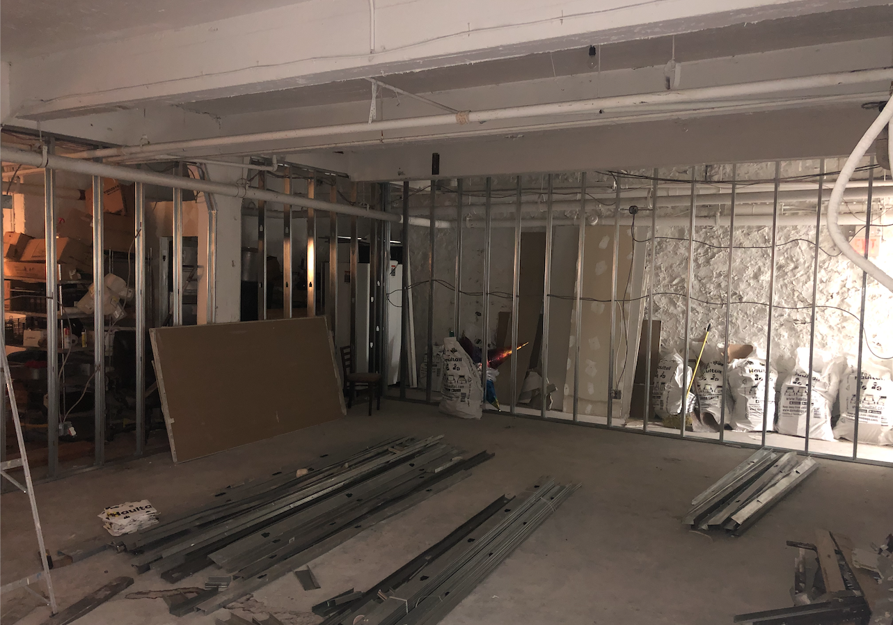 Adding approximately 800 square feet of training space