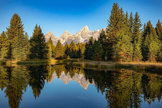 Early morning in the Tetons