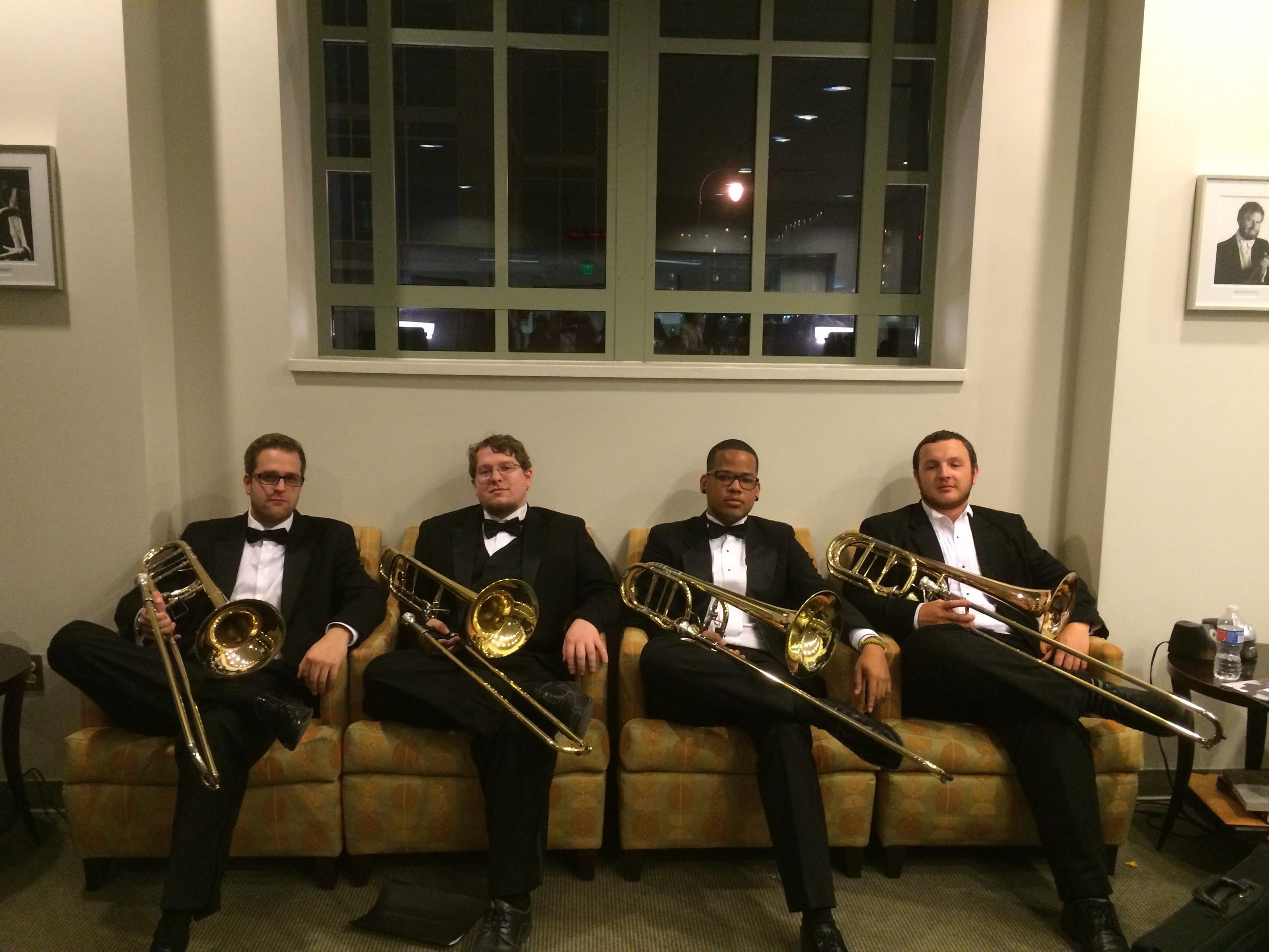 FSU Wind Orchestra trombone section 2015