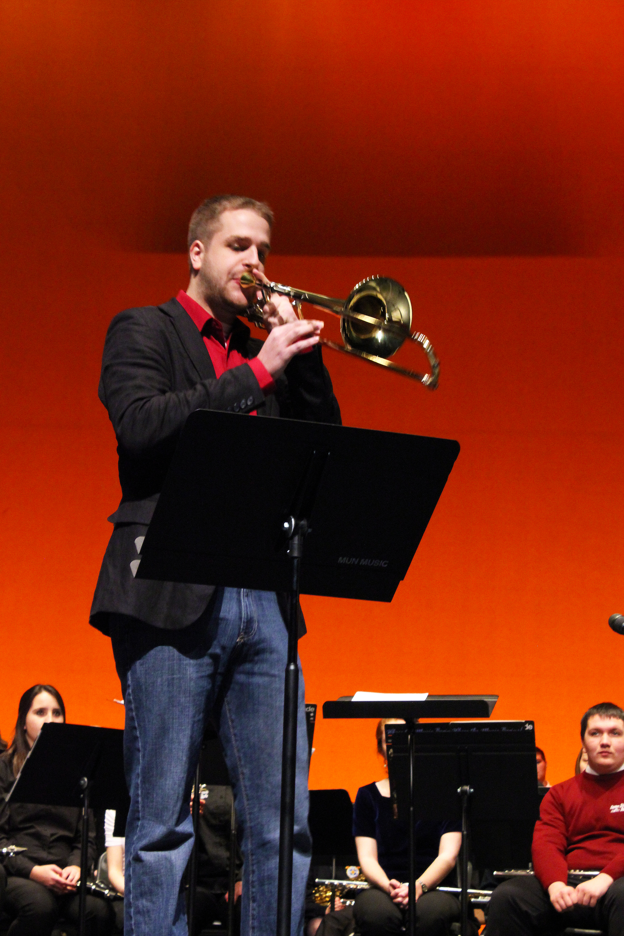 Performing with the Paddywagon Trombone Quartet