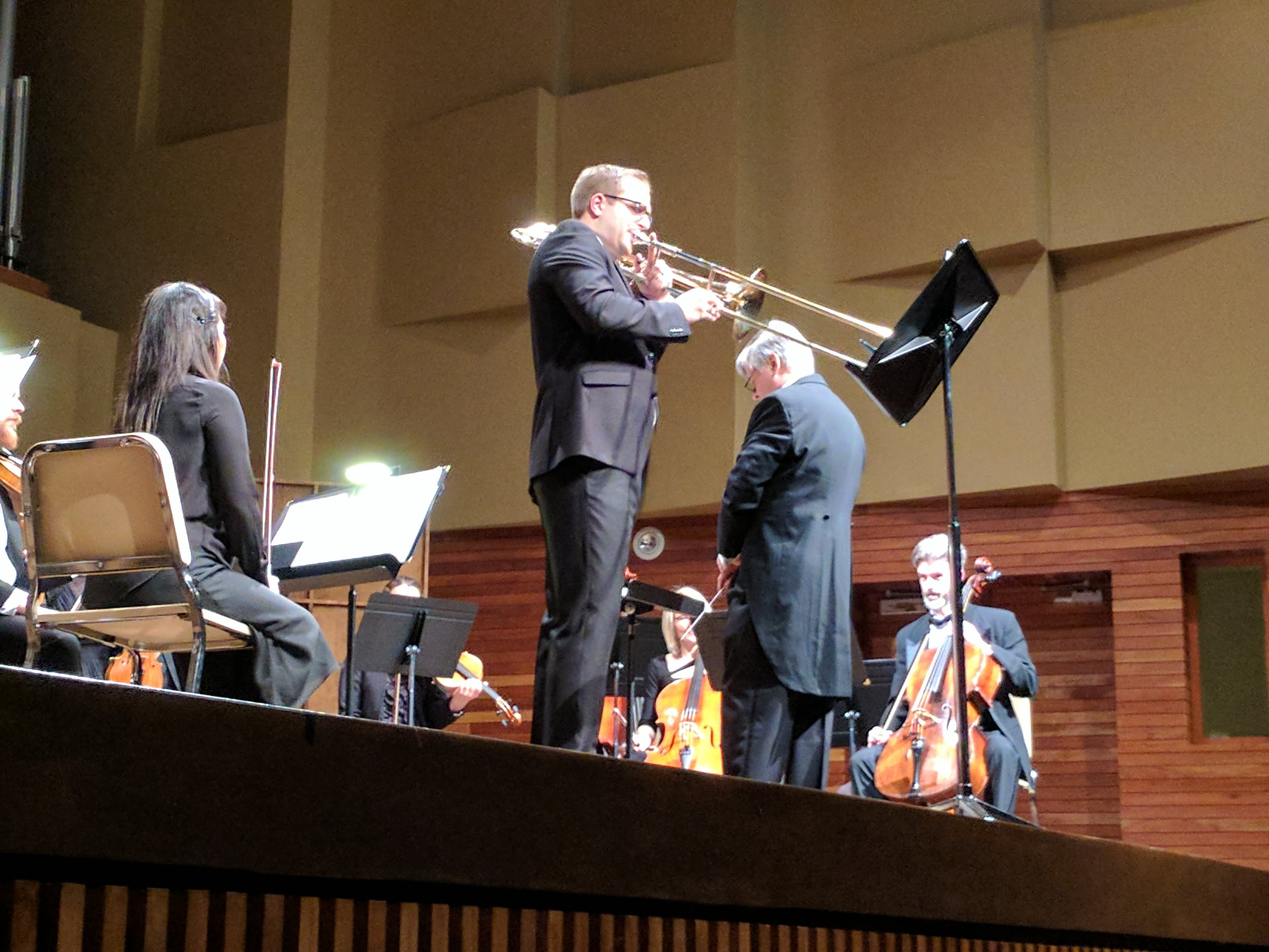 Performing with the Newfoundland Symphony Orchestra