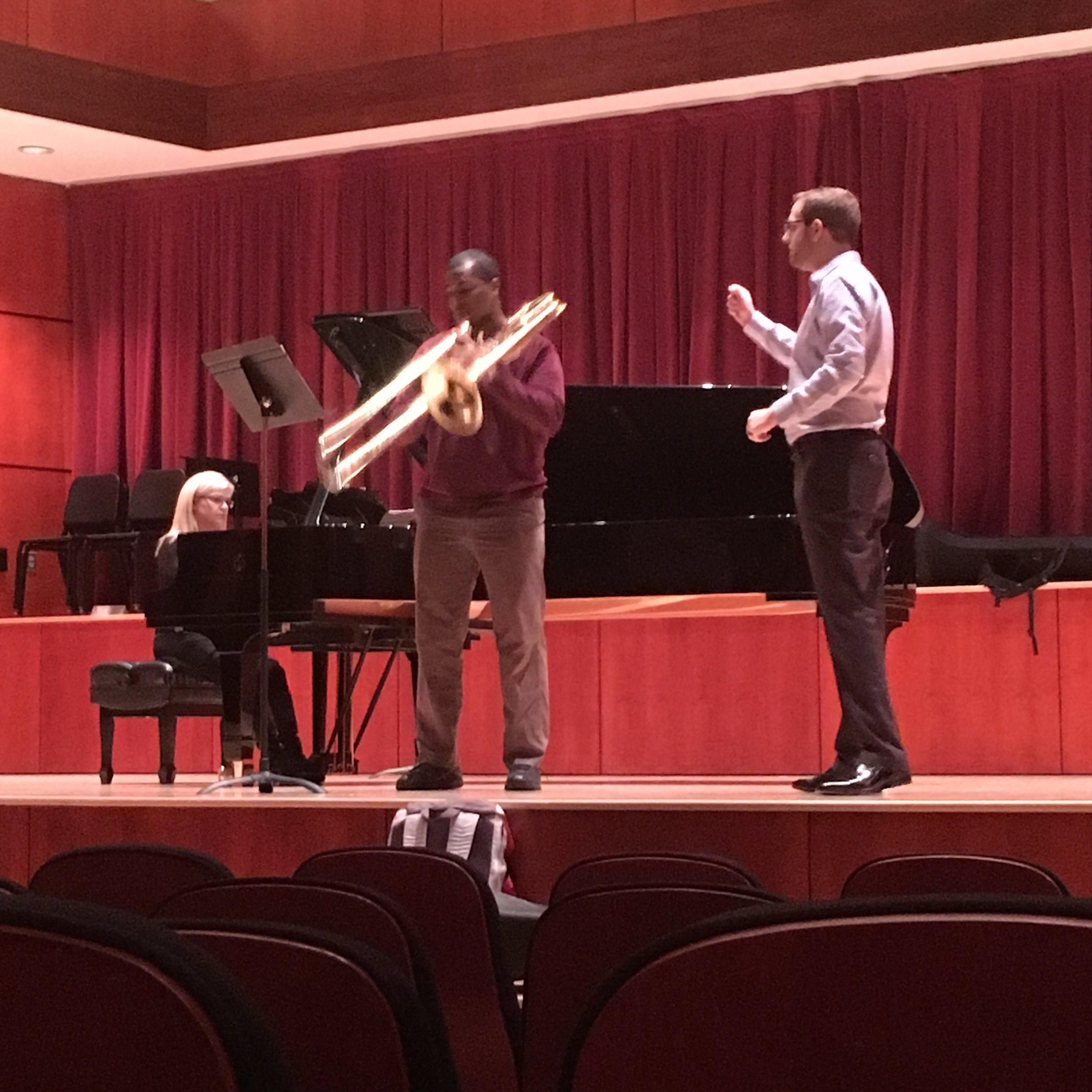 Working with the UNCSA Trombone Studio