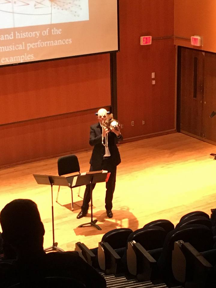 Performing Berio's Sequenza V at Florida State University