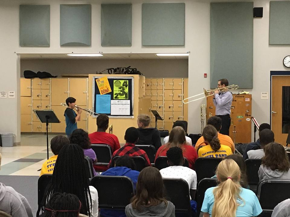 Working with students in the RAA Middle Schools in Tallahassee