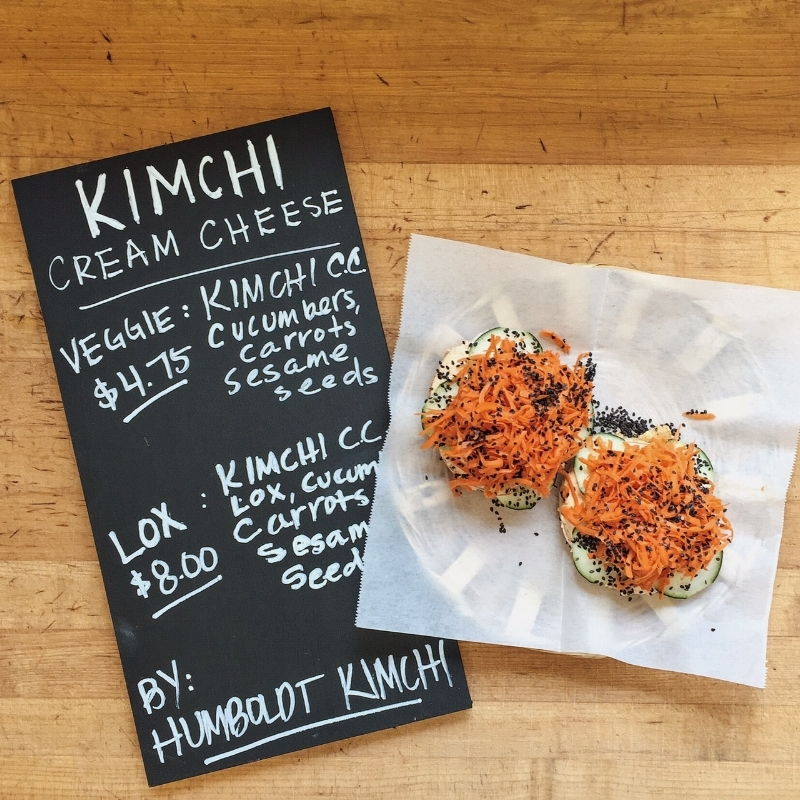 Humboldt Kimchi Cream Cheese Special