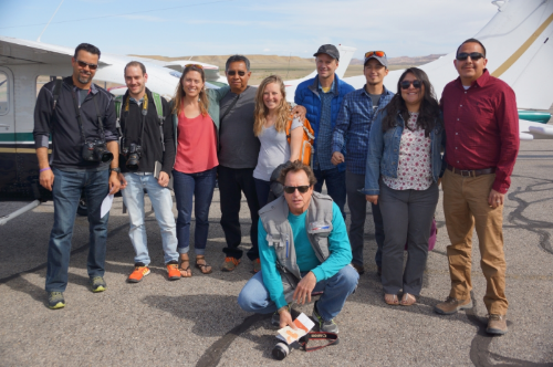 May 23rd, 2016: Climbers and tribal representatives gathered together to discuss the future management of southeast Utah.Photocredit: EcoFlight