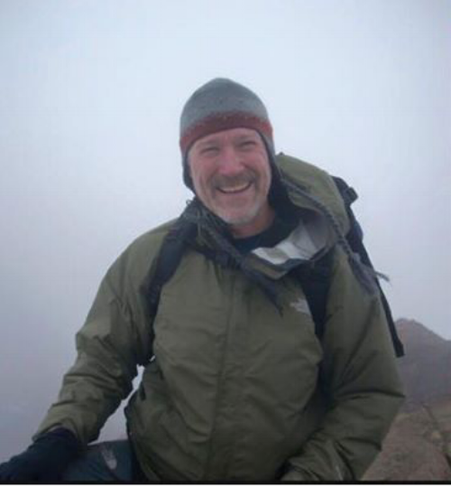 Joe Bohlig climbing in Ecuador.