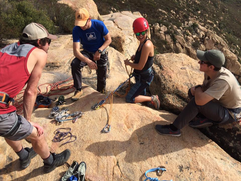 AAC Instructor Jonathan Wachtel discussing anchoring fundamentals with AAC Members Joe Gladstone, Lindsay Bullis and Shawn Moore.  Photo cred: Piotr Andrzejczak