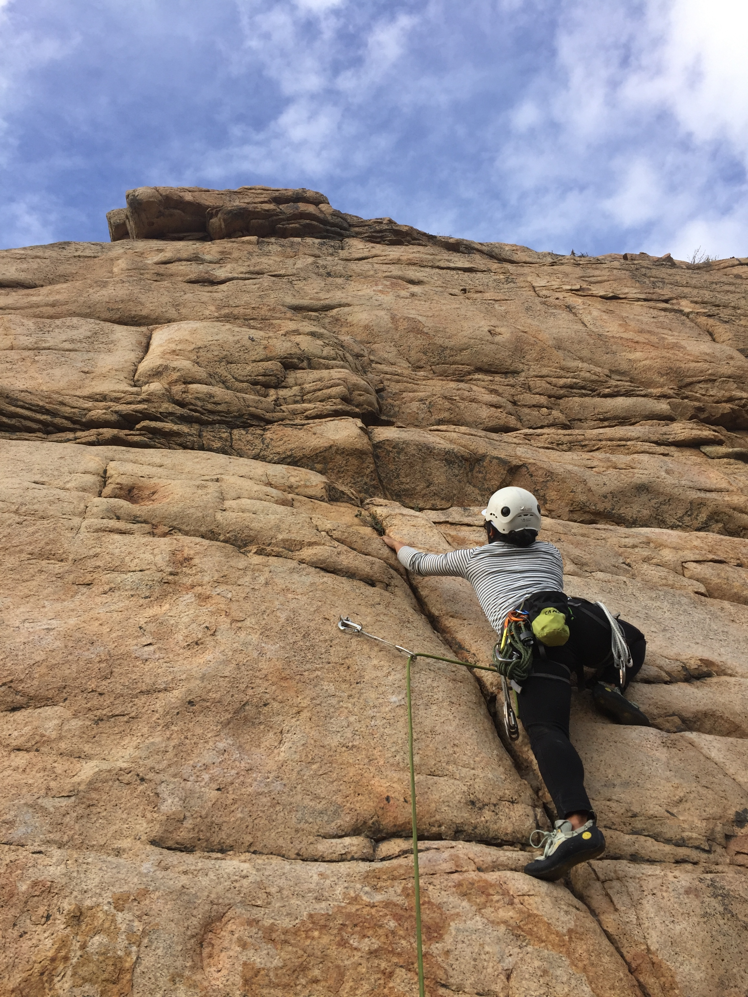 AAC Member Melissa Angeles on her first ever outdoor lead!  Photo cred: Jonathan Wachtel.