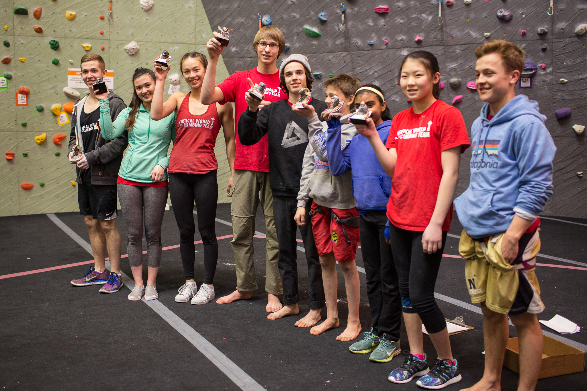 The Vertical World Youth team celebrating their win!  Photos: Brian Poon
