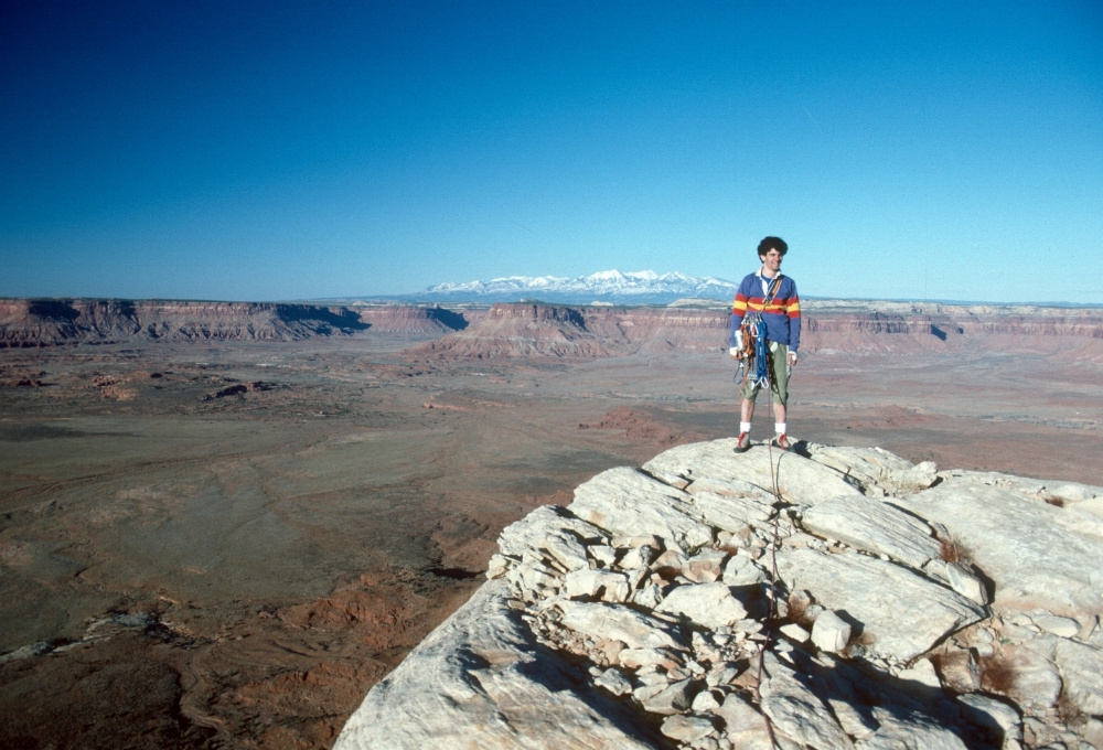 John Climaco Climbing in Southeast Utah in the 1980s.