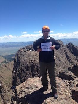 Adam Vonnahe on top of Crestone Peak.