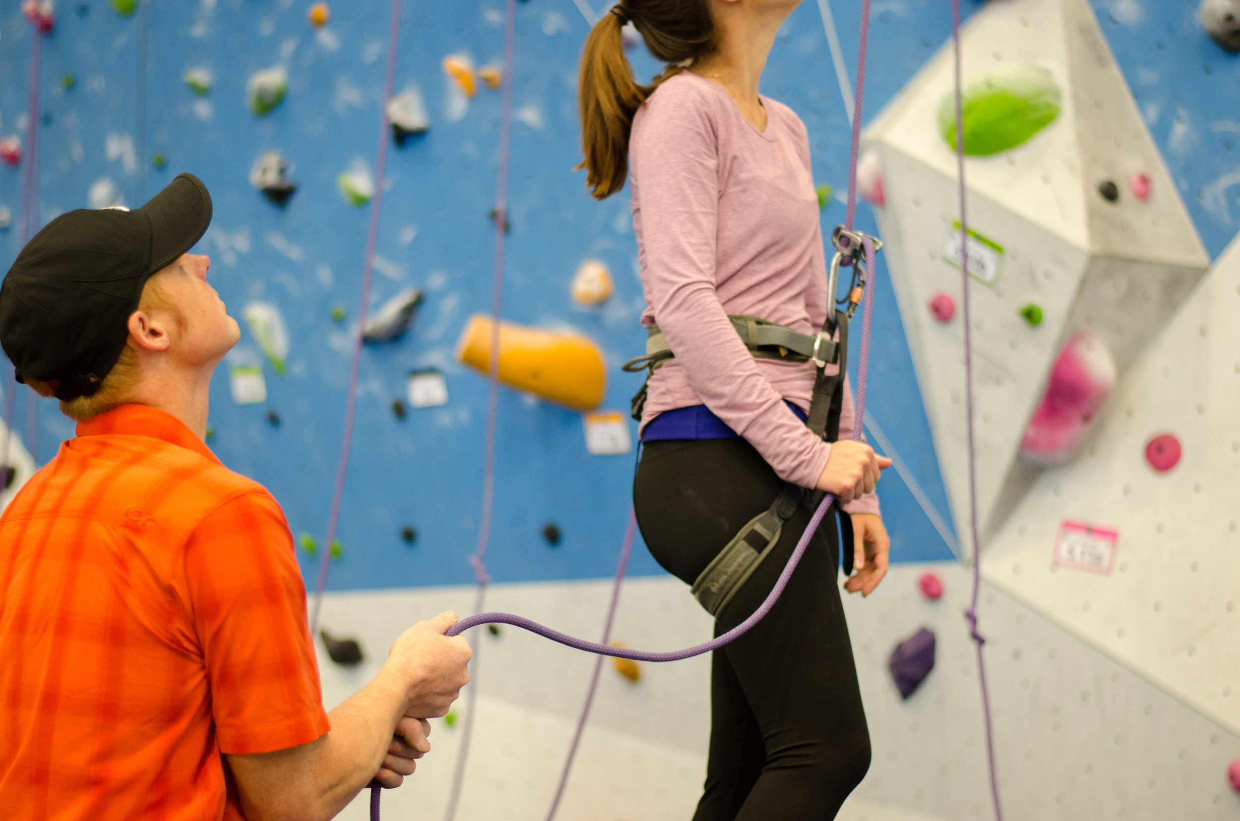 Since climbers are often standing around in groups of three or four, it's easy to offer a backup belay.