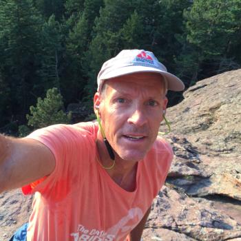 Bill Wright scrambling in Boulder Colorado's Flatirons.
