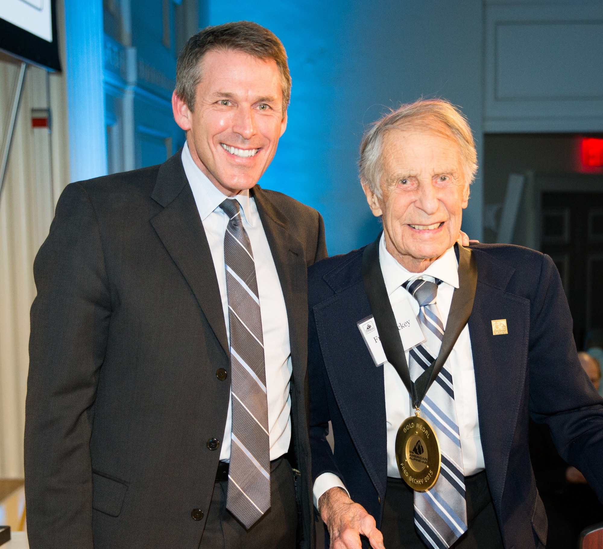 AAC Honorary Member Fred Beckey with Former President Mark Kroese