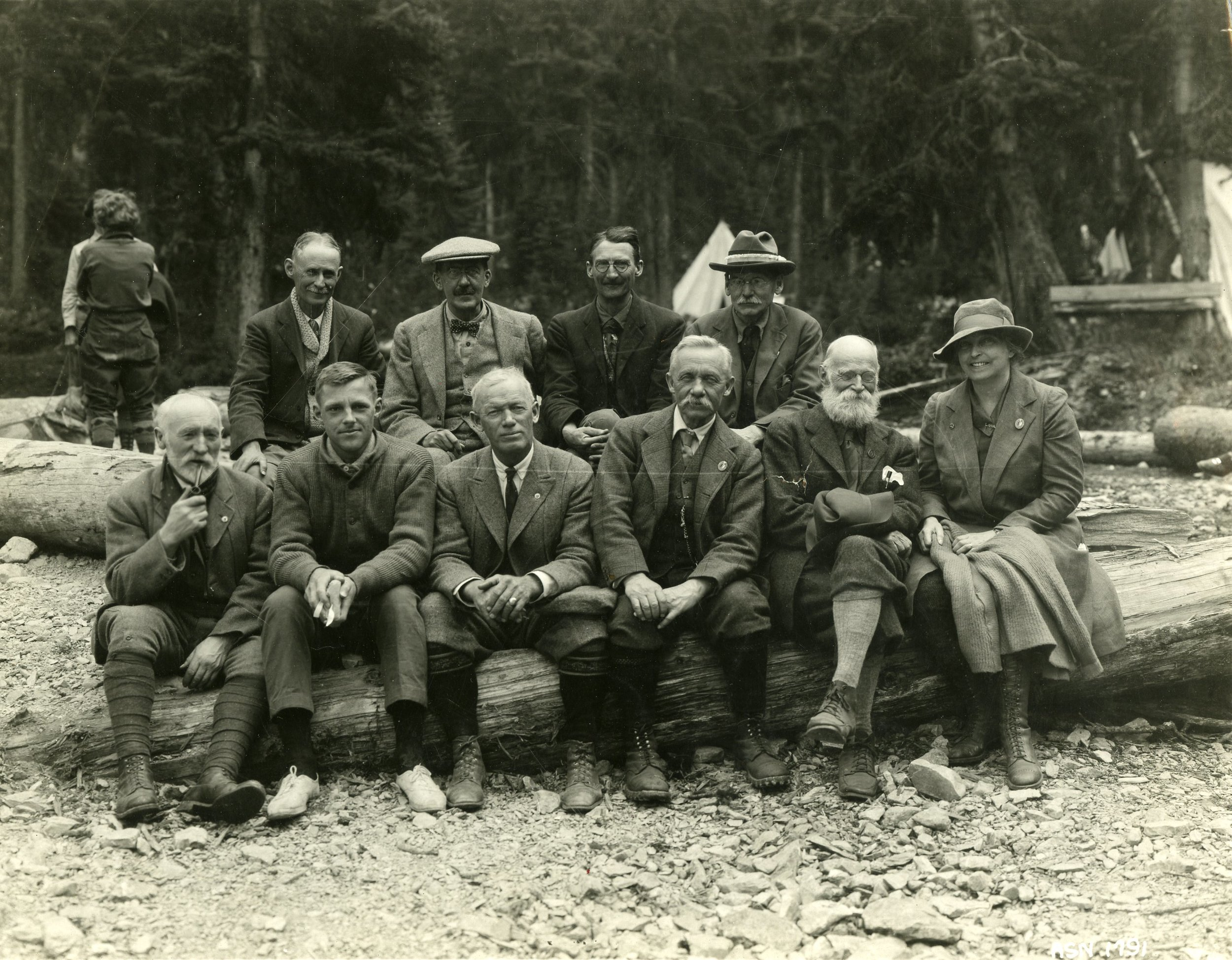 This photograph from 1925 is an example of the variety of mustaches that exist in nature.