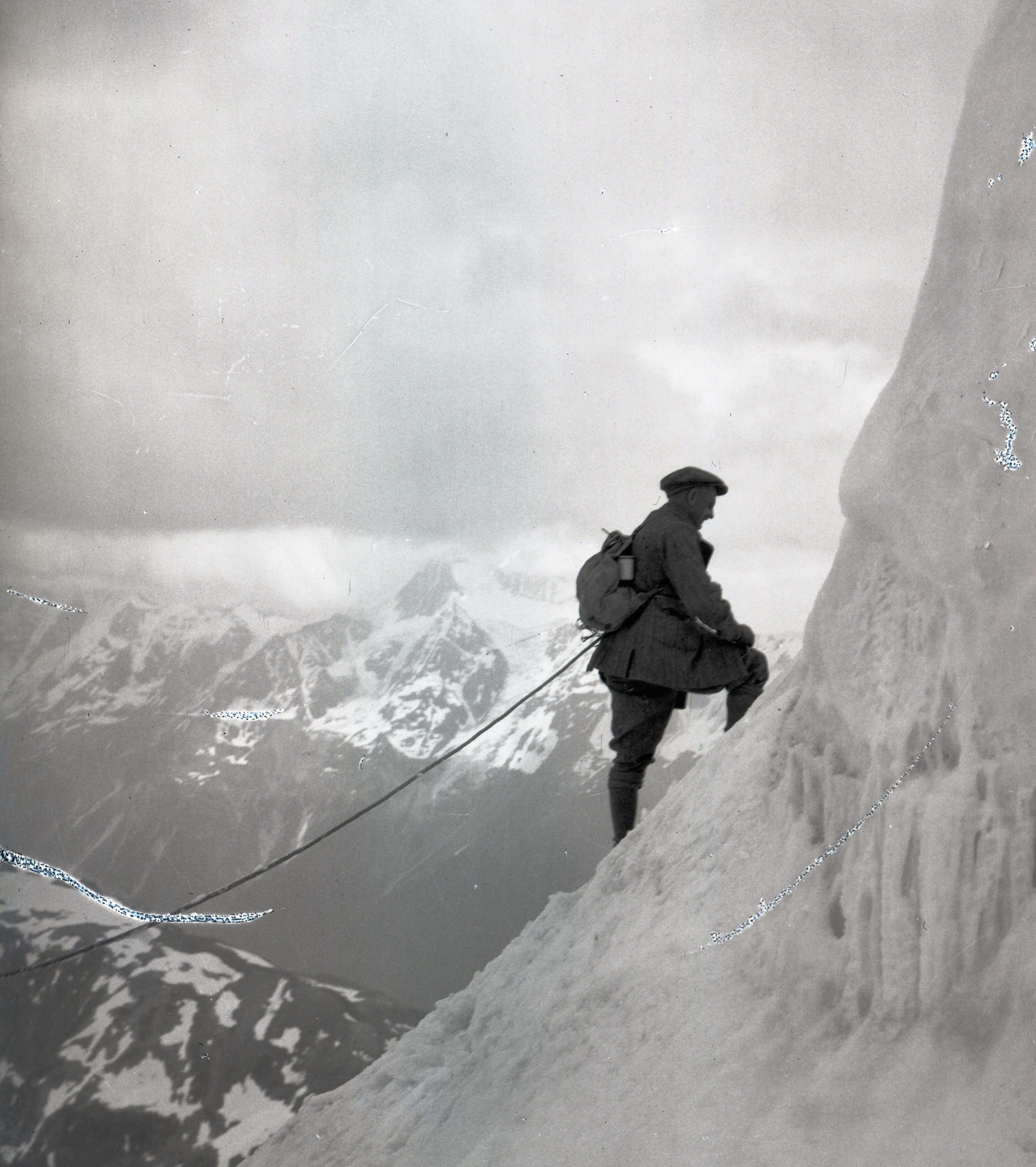 Climbing in the Alps, 1905