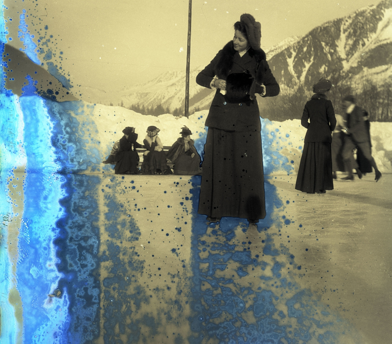 An ice skater watches her world disintegrate - circa 1905