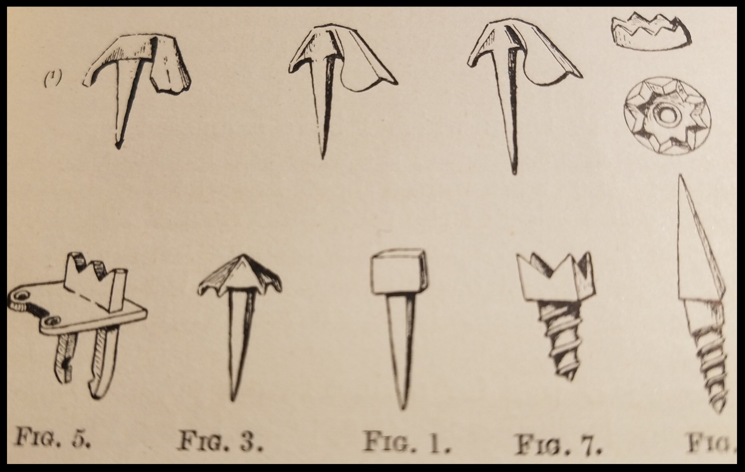 Illustration of boot nails from Mountaineering Art by Harold Raeburn, 1920.