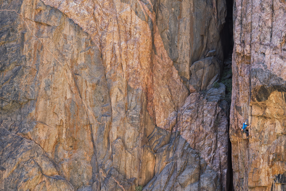 Madaleine Sorkin in The Black Canyon National Park. Photo: Chris Noble