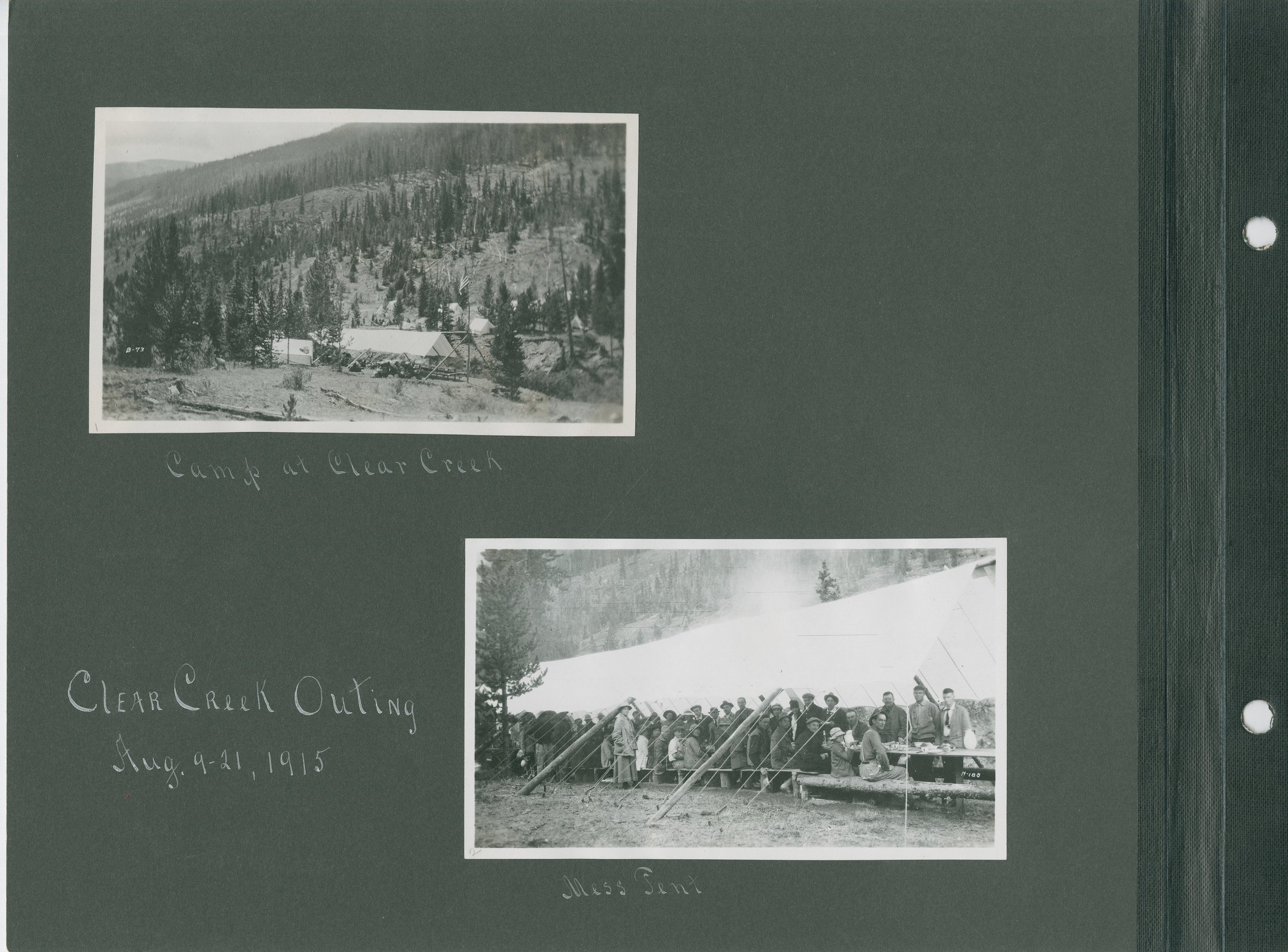 Clear Creek Outing, Aug. 9-21, 1915