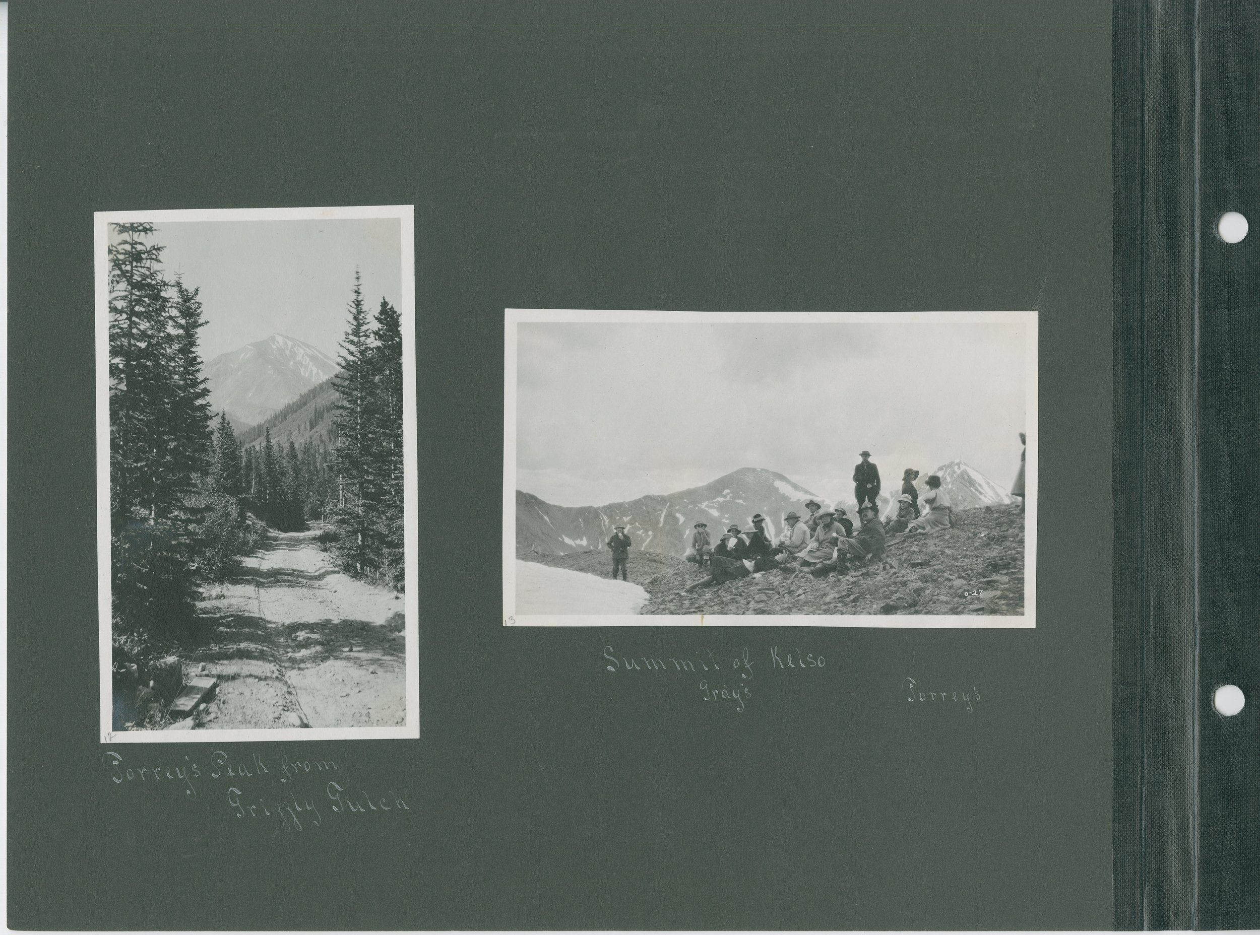 Left: Torrey's Peak from Grizzly Gulch, Right: Summit of Kelso