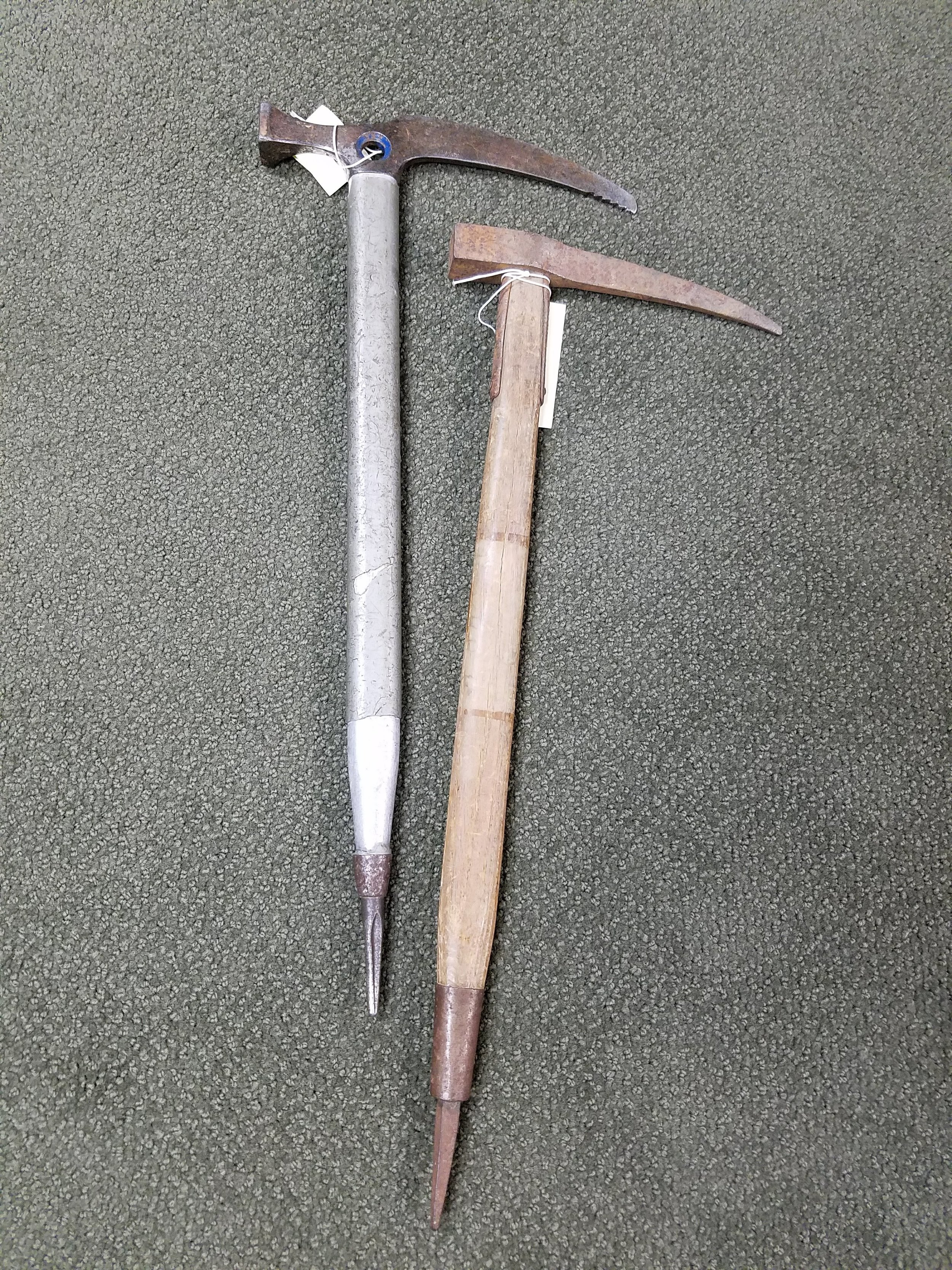 All-metal ice axes with hammers instead of adzes