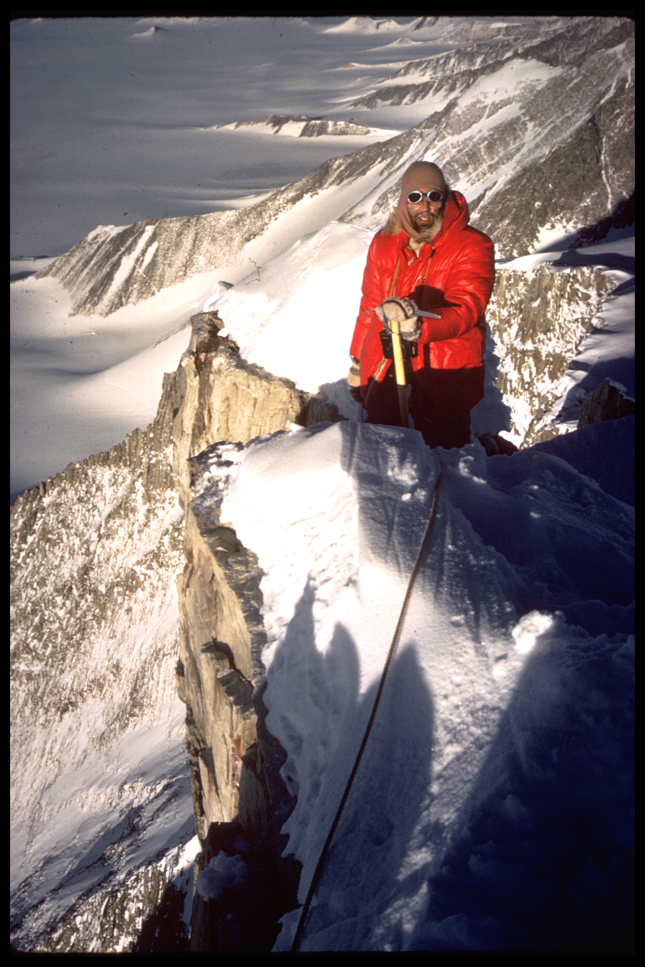 Ice axe on Mount Ostenso