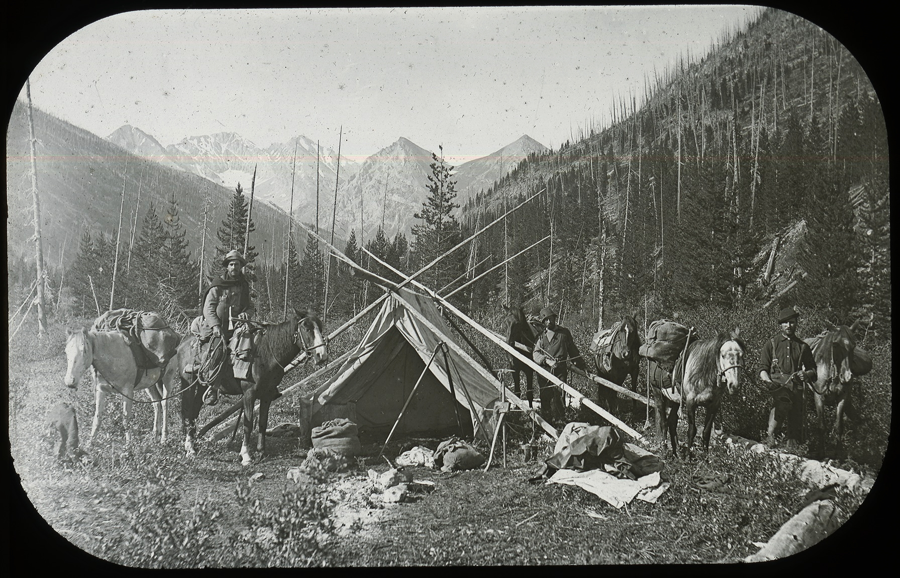 Camp in the Canadian Rockies