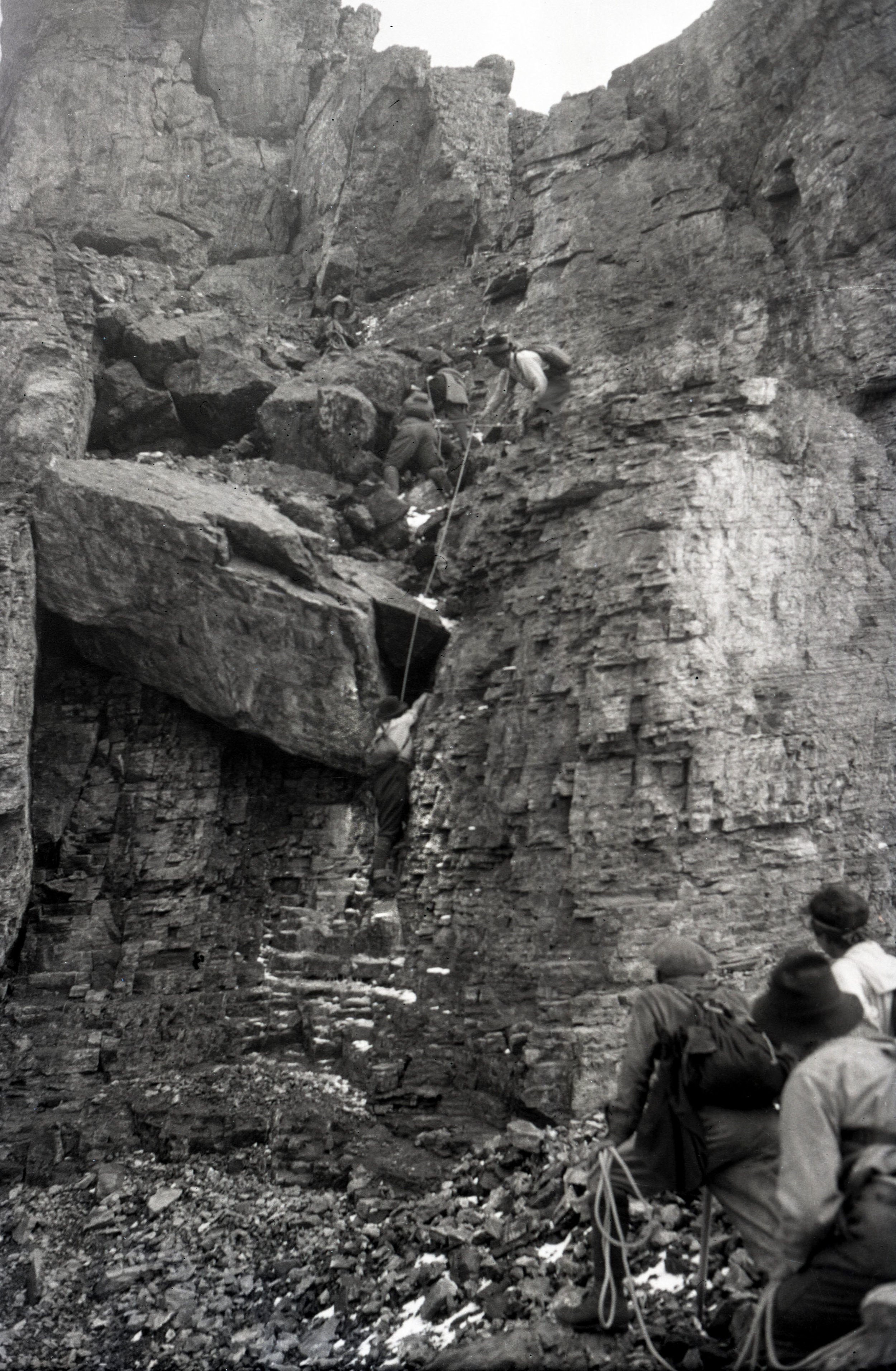 Climbers on Odaray Mountain