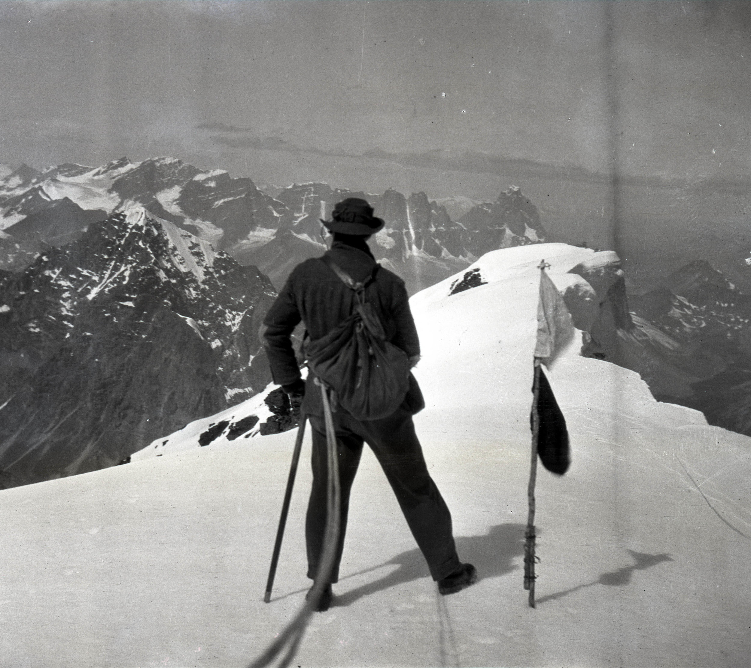 The summit of Mount Edith Cavell