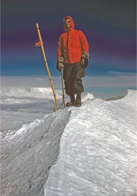 Barry Corbet on the summit of McKinley.