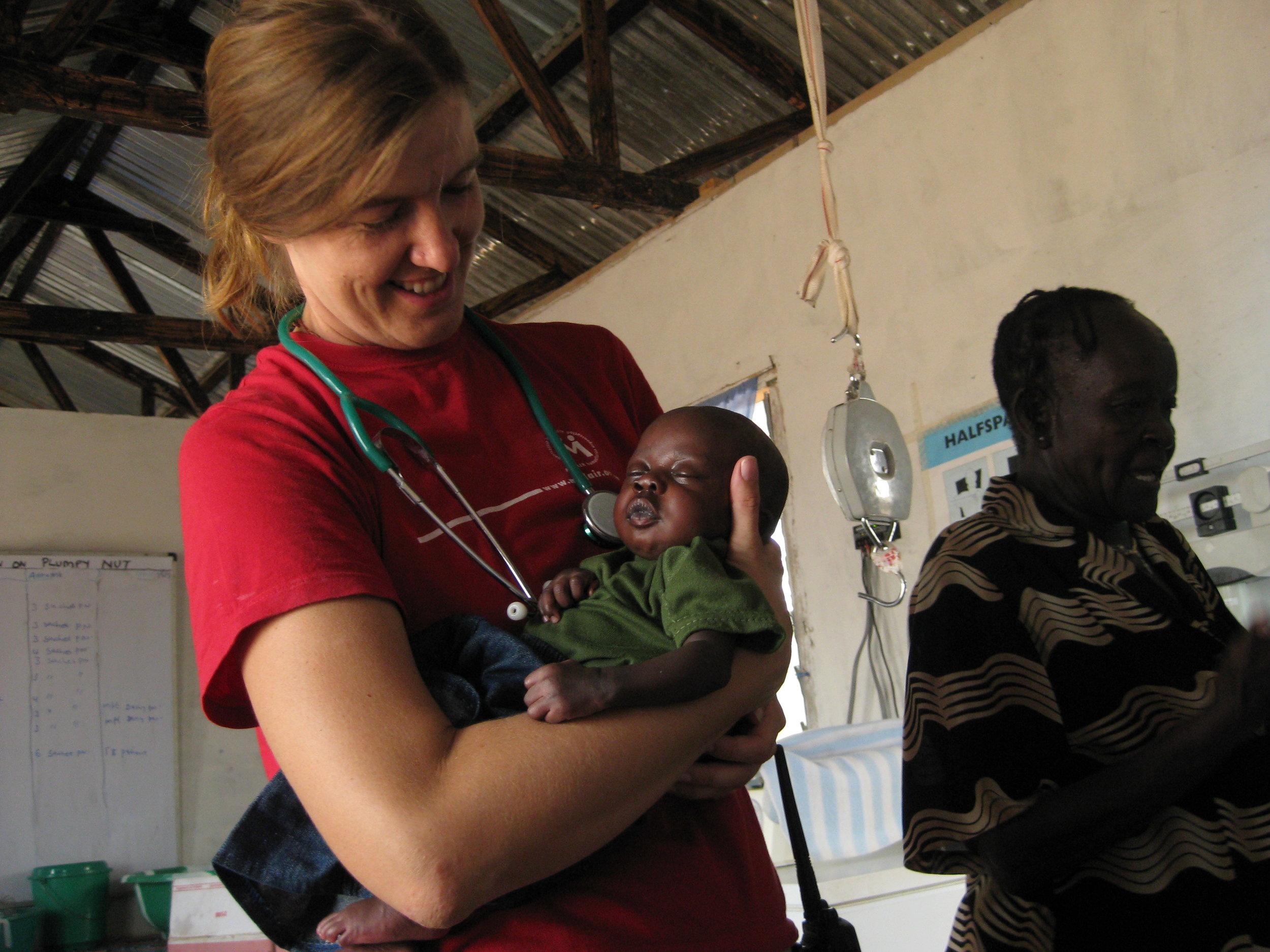 Laura McGladrey nursing in Africa.
