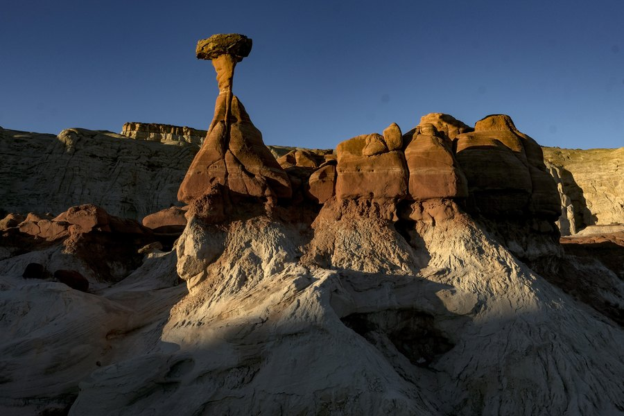 (Bonnie Jo Mount | The Washington Post) The Toadstool Hoodoos in Kanab, Utah, stand in an area that was removed from Grand Staircase-Escalante in Utah in October 2018.