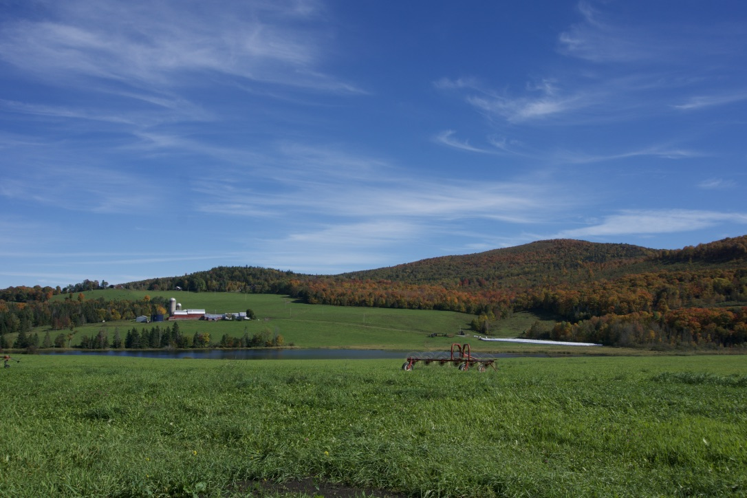 Farm and forest land in the Northeast Kingdom of Vermont. Photo credit: Taylor Luneau