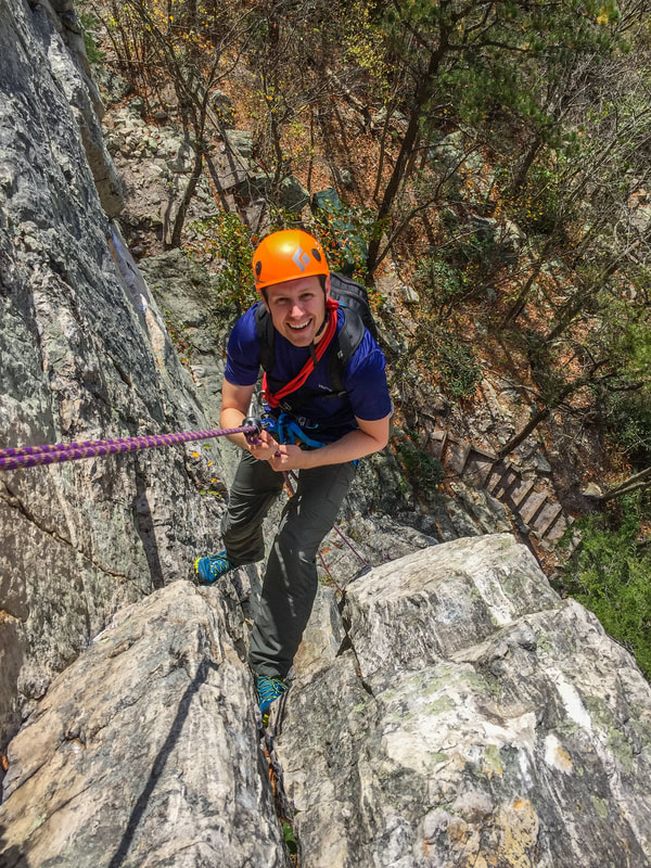 The rappel descents from a place like Seneca Rocks just aren't long enough to necessitate Simul-Rappelling. It's harder to justify such a consequential arrangement when the efficiencies don't add up.