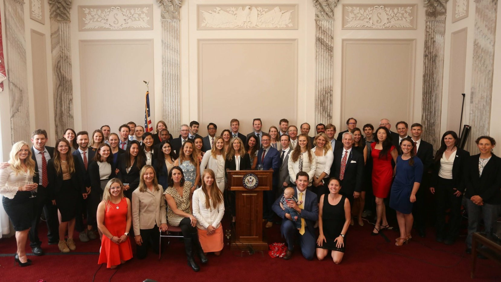 Powers and the many attendees of the 2019 Climb the Hill event in D.C. (photo: Stephen Gosling).