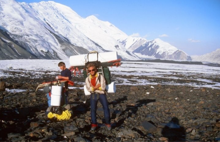 Powers on the Muldrow Glacier in 1996.